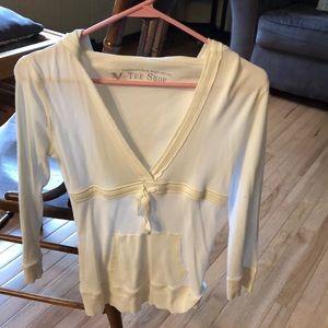 1/4 long sleeve hooded T-shirt